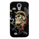 Airborne Military Skeleton Smoking a Cigar Bombers Samsung Galaxy S4 Cases