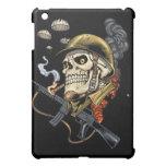 Airborne Military Skeleton Smoking a Cigar Bombers iPad Mini Cover