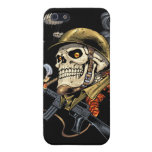 Airborne Military Skeleton Smoking a Cigar Bombers iPhone 5 Cases