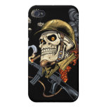 Airborne Military Skeleton Smoking a Cigar Bombers iPhone 4/4S Covers