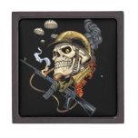Airborne Military Skeleton Smoking a Cigar Bombers Premium Gift Boxes