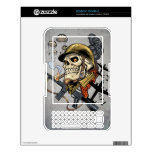 Airborne Military Skeleton Smoking a Cigar Bombers Decal For The Kindle