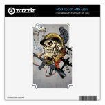 Airborne Military Skeleton Smoking a Cigar Bombers iPod Touch 4G Skins
