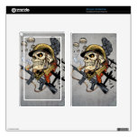 Airborne Military Skeleton Smoking a Cigar Bombers Decals For Kindle Fire