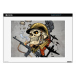 Airborne Military Skeleton Smoking a Cigar Bombers Decals For Laptops