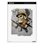 Airborne Military Skeleton Smoking a Cigar Bombers Decals For iPad 3