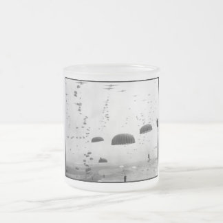 Airborne Mission During WW2 Painting Frosted Glass Coffee Mug