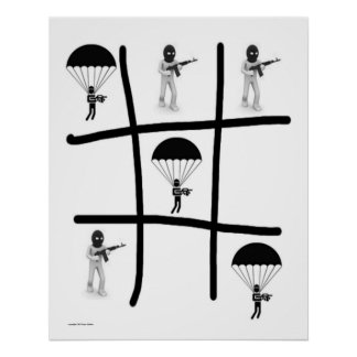Airborne one: TIC TAC Toe Poster