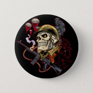 Airborne or Marine Paratrooper Skull with Helmet Button