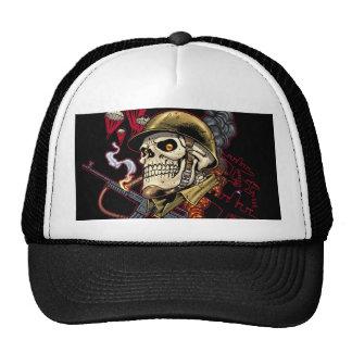 Airborne or Marine Paratrooper Skull with Helmet Trucker Hat