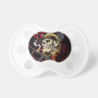 Airborne or Marine Paratrooper Skull with Helmet Pacifier