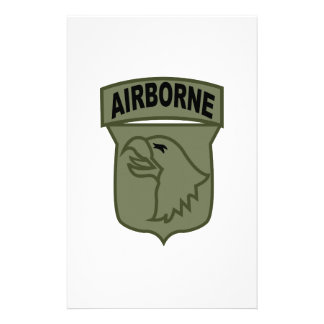 Airborne Patch Customized Stationery