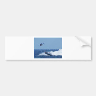 Airborne Powerboat And Helicopter Car Bumper Sticker