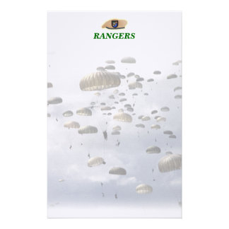 Airborne Rangers army veterans vets Stationery