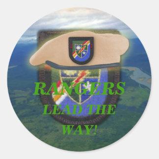 airborne rangers son wife mom vets scrapbooking classic round sticker