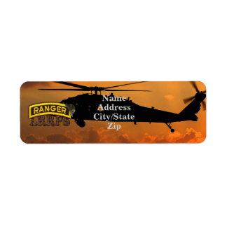 Airborne Rangers Veterans Vets LRRP Label