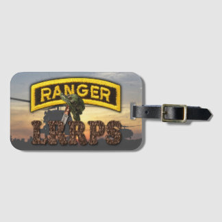 Airborne Rangers Veterans Vets LRRP Luggage Tag