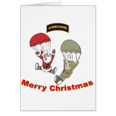 Airborne Santa Ii Card at Zazzle
