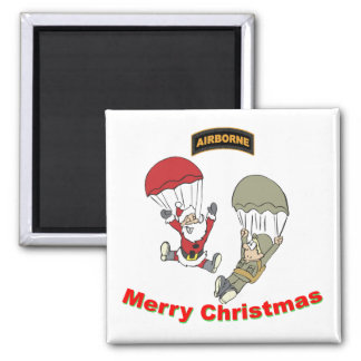 Airborne Santa II Light T-Shirt 2 Inch Square Magnet