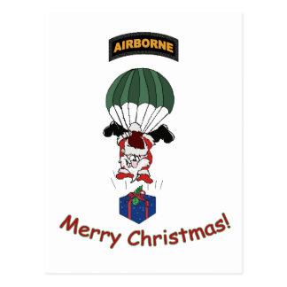 Airborne Santa Postcard