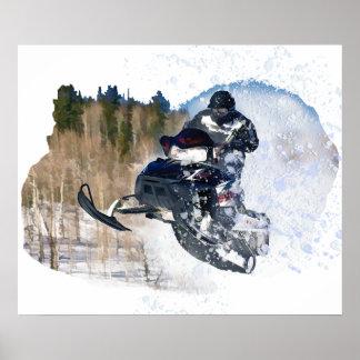 Airborne Snowmobile Print