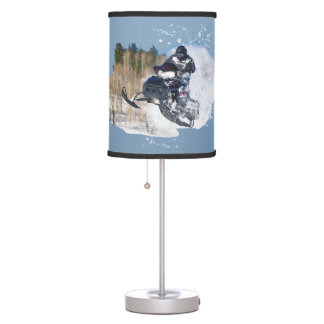 Airborne Snowmobile Table Lamp