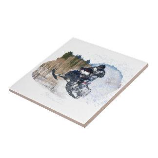 Airborne Snowmobile Ceramic Tiles