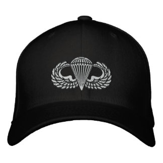 Airborne stencil baseball cap