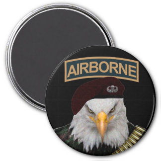 Airborne units bold eagle army style 3 inch round magnet