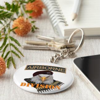 Airborne units bold eagle army style keychain