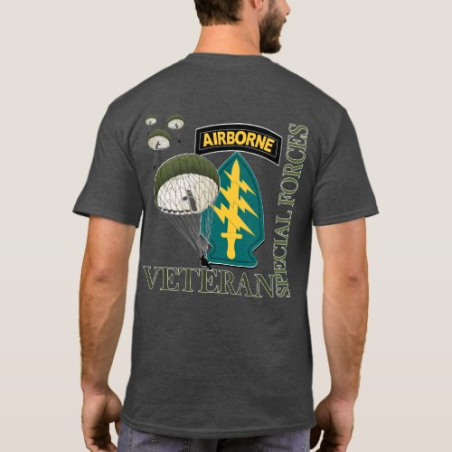 Airborne Veteran _ Special Forces T_Shirt 2 sided