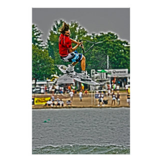 Airborne-Wakeboarding Poster