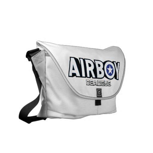 Airboy: Deadeye logo Rickshaw Messenger Bag
