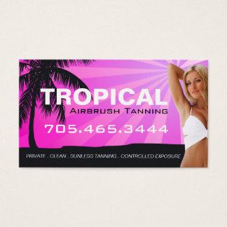 Airbrush Tanning Salon Business Card