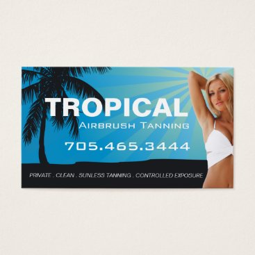 Professional Business Airbrush Tanning Salon Business Card