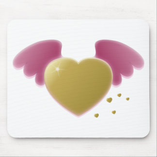 Airbrushed Heart Wings Mouse Pad