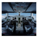 Airbus A380 - Cockpit HD Poster
