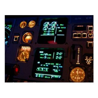 Airbus Cockpit Detail 2 Postcard