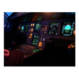 Airbus Cockpit Postcard
