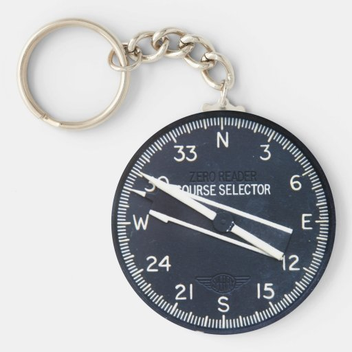Aircraft Airplane Flying Flight Course Instrument Key Chain