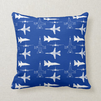 Aircraft airplanes boys flying throw pillow