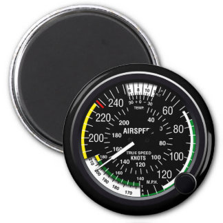 Aircraft Airspeed Indicator Gauge 2 Inch Round Magnet