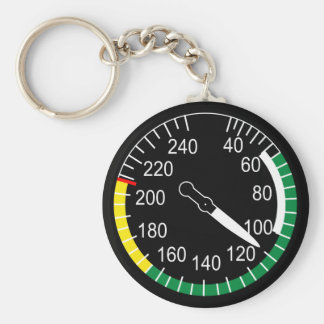 Aircraft Airspeed Indicator Keychain
