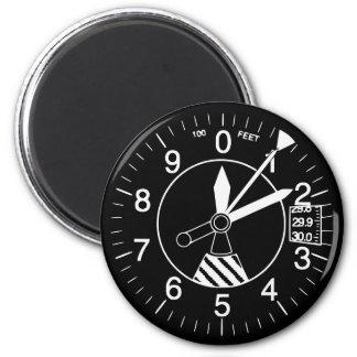 Aircraft Altimeter Gauge 2 Inch Round Magnet