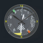 """Aircraft Altimeter Indicator Gauge Wall clock<br><div class=""""desc"""">Aircraft flight Altimeter Gauge Wall Clock.</div>"""