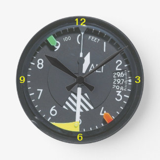 Aircraft Altimeter Indicator Gauge Wall clock