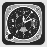 Aircraft Altimeter Instrument Square Sticker