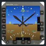"Aircraft Attitude Artificial Horizon wall Clock<br><div class=""desc"">Primary Flight Display Attitude Indicator Mode Wall Clock.</div>"