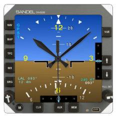 Aircraft Attitude Artificial Horizon wall Clock at Zazzle