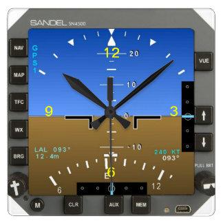 Aircraft Attitude Artificial Horizon wall Clock